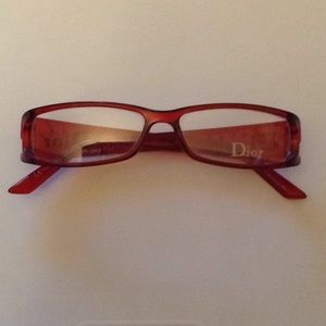 Dior womens vintage eyeglasses red frames new nwot